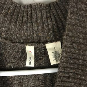 Anthropologie Sweaters - Anthropologie Moth brown cardigan sweater S
